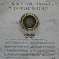 """YS: Византия, бронзовая монета, VII век, серия """"Монеты тысячелетия"""""""