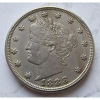 США,  5 центов, 1888