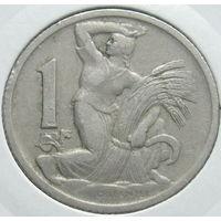 Чехословакия 1 крона 1925 НЕЧАСТАЯ в холдере