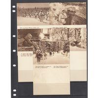 Лыжники Снайперы Полевая почта Финляндия 1939 - 1944 ВОВ ВМВ Набор 5 открыток чистые