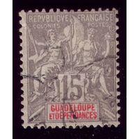 1 марка 1900 год Гваделупа 42 3