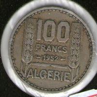 Алжир 100 франков 1952 года.