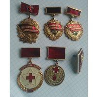 Значки СССР сборный лот