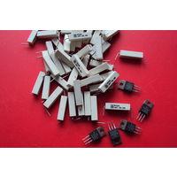 Резисторы мощные проволочные в керамике. R=0,15 Ом; 0,68 Ом; 3,3 Ом; 4,7 Ом; 470 Ом. P=5W Габаритные размеры (6,5x6,5x25)mm