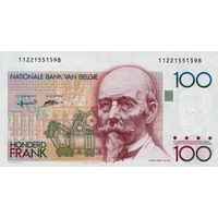 Бельгия 100 франков 1978-1982 UNC