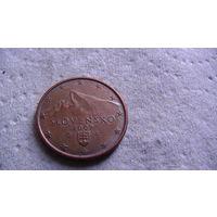 Словакия 5 евроцентов 2009г . распродажа