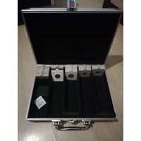 Алюминиевый кейс для хранения монет в холдерах (ТОРГ)