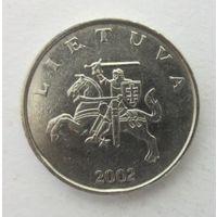 Литва 1 лит 2002г Состояние!