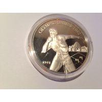 Самоа и Сисифо, 10 долларов 1991 - Ядро / (серебро, proof)