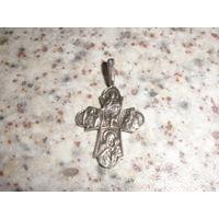 Редкий православный серебряный крестик