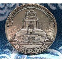 """Медаль """"Volkerschlacht ben kmal Leipzig"""". Лейпциг. Мемориал памяти битвы под Лейпцигом 1813 года."""
