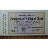 200 миллионов марок 1923г. Берлин (железная дорога)