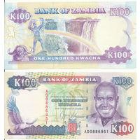 Замбия 100 квача образца 1991 года UNC p34