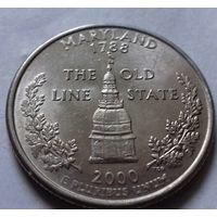 25 центов, квотер США, штат Мэриленд, P D