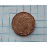 Каймановы острова 1 цент 2002г.