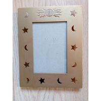 Рамка для фото со стеклом, латунь, 14х18 см