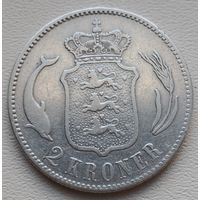 Дания 2 кроны 1875, серебро