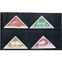 Чад. Mi:TD P23-Р26. Доплатные марки.Наскальные гравюры в Тибести. 1962.
