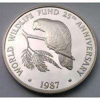 КАЙМАНОВЫ ОСТРОВА 5 долларов 1987 год (серебро) PROOF