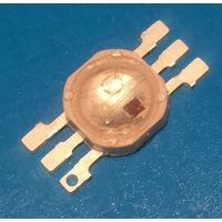 3 Вт. ПОЛНОЦВЕТНЫЙ мощный светодиод. Можно использовать для растений. LED RGB. PL6N-3LFE