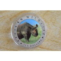 Либерия 10 долларов 2002