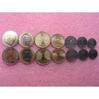 Саудовская Аравия полный набор 7 монет 2016 UNC