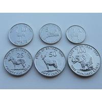 Эритрея.  набор 6 монет 1,2,5,10,25,50,100 центов  1997 год.