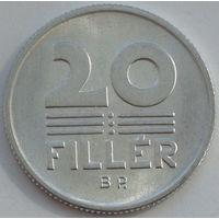 Венгрия 20 филлеров. 1987