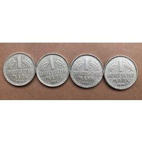 1 марка ФРГ 1955,1958г. Цена за 1 монету