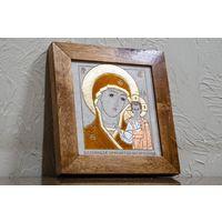 Икона Казанской Божией Матери. Натуральный камень. Икона Богоматери Казанской