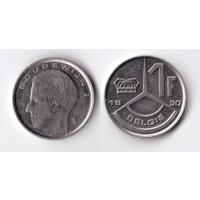 Бельгия 1 франк 1990 (два варианта написания)
