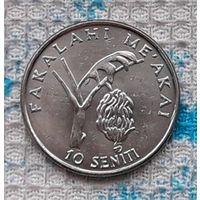 Тонга 10 сенити 2005 года. AU. Инвестируй в монеты планеты!