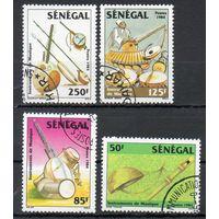 Музыкальные инструменты Сенегал 1985 год серия из 4-х марок