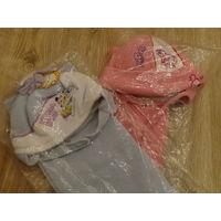 Комплект: шапочка + шарф, для мальчика или девочки. Флис на меху. ОГ 50-54