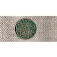Чехословакия Чехия 20 геллеров 1938/(Uss)