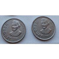 Уругвай 10 новых песо, 1981  3-9-20*21