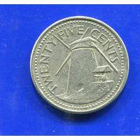 Барбадос 25 центов 1990