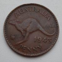 Австралия 1 пенни 1943_KM#36_большая монета