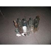 Бутылки разные,аптечные 15 шт. ПМВ