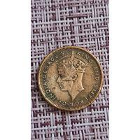 Маврикий 2 цента 1945 г