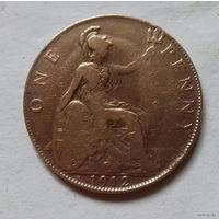 1 пенни, Великобритания 1912 H, Георг V