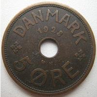 Дания 5 эре 1928 г.