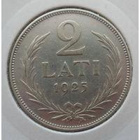 """Латвия 2 лата 1925 """"Герб"""""""