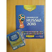 Наклейки PANINI Чемпионат Мира 2018 блок 50 пакетиков по 5 наклеек