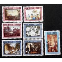 Гвинея Бисау 1989 г. Французкая Революция. Филателистическая выставка Франция 89. Живопись. Искусство, полная серия из 7 марок #0103-И1P23