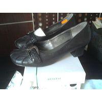 Туфли Белвест 37 размер черные натуральная кожа с эффектом сжатия