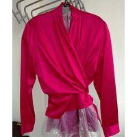 Красная блузка 100% натур. шелк