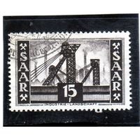 Германия. Саар. Ми-328. Шахта (Саар V). Индустриальный ландшафт.1955.