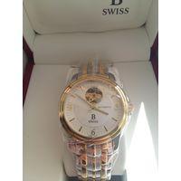 Новые швейцарские механические часы производства Carl F. Bucherer, покрытие корпуса PVD золото 18К, позолоченный механизм и золотые стрелки, сапфировое стекло, автоподзавод, гарантия.