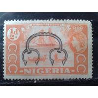 Нигерия 1953 колония Англии Парусник, лодки*